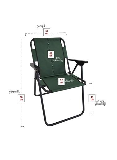 Bofigo Bofigo 3 Adet Kamp Sandalyesi Katlanır Sandalye Piknik Sandalyesi Plaj Sandalyesi Yeşil Yeşil